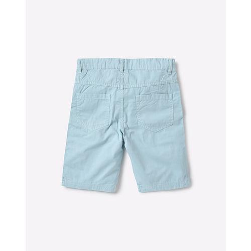 AJIO Mid-Rise Flat-Front Shorts