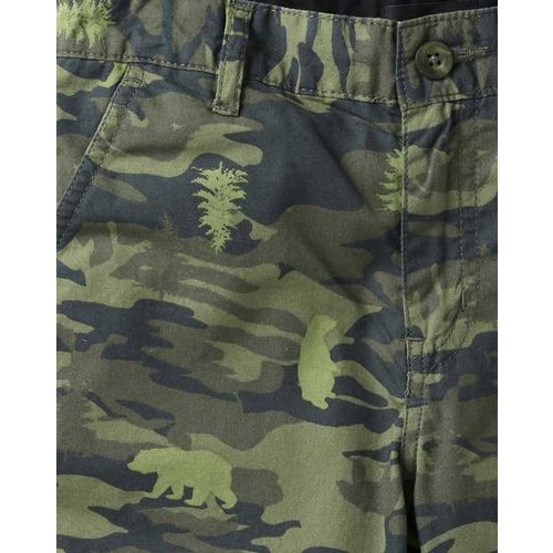 AJIO Camouflage Print Four-Pocket Shorts