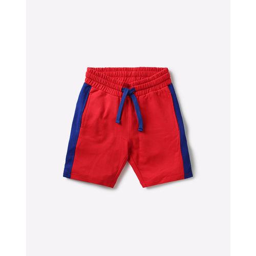 AJIO Colourblock Mid-Rise Shorts