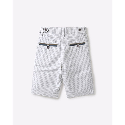 UNITED COLORS OF BENETTON Striped Cotton Shorts with Welt Pockets