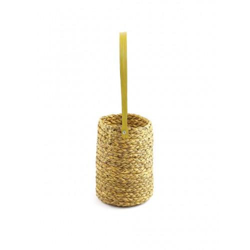 Unravel India Yellow Handmade Sabai Grass Cutlery Holder