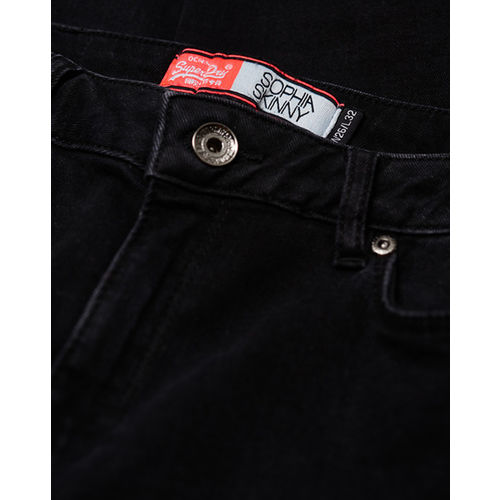 SUPERDRY Sophia Skinny Mid-Rise Jeans with Side Trims