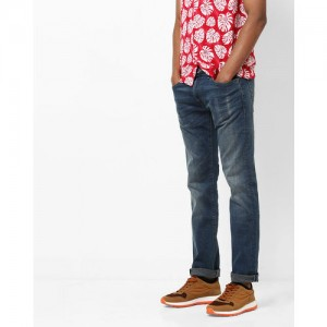 Pepe Jeans Logan Low-Rise Slim Fit Washed Jeans