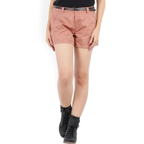 Vero Moda Solid Women's Brown Basic Shorts