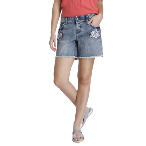 Only Solid Women's Light Blue Denim Shorts