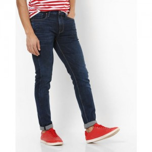 UNITED COLORS OF BENETTON Lightly Washed Mid-Rise Slim Tapered Jeans
