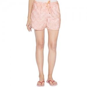 Enamor Printed Women's Pink Basic Shorts