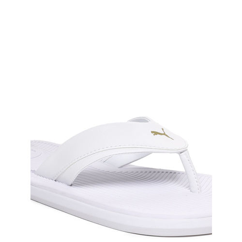 Puma Men White Solid Thong Stark One8 IDP Flip-Flops
