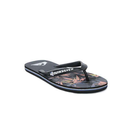 Quiksilver Men Black Printed Thong Flip-Flops