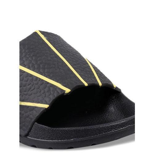 bacca bucci Men Black Printed Sliders