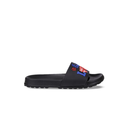 bacca bucci Men Black Printed Sliders