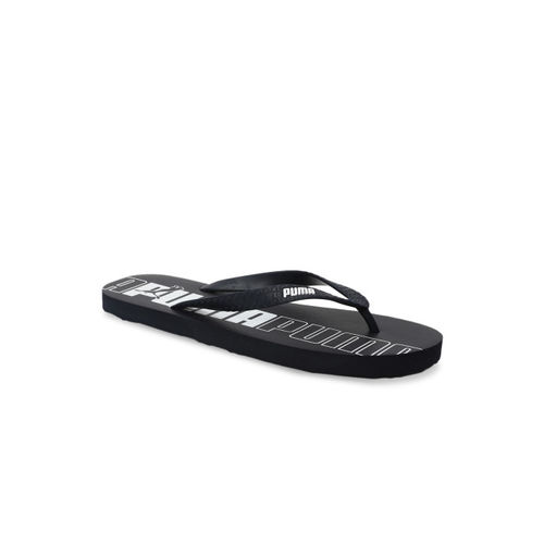 9e83902cbb4f7 Buy Puma Men Black Printed Thong Flip-Flops online
