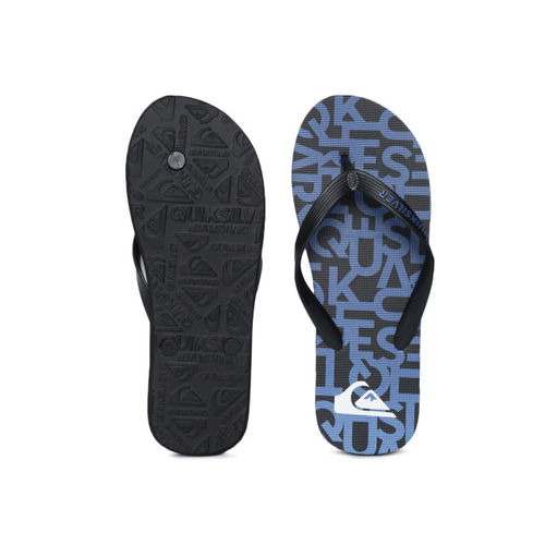 Quiksilver Men Blue & Black Printed Thong Flip-Flops