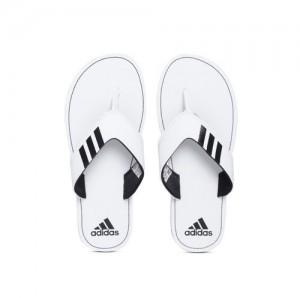 ADIDAS Men White & Black COSET 2018 Thong Flip-Flops