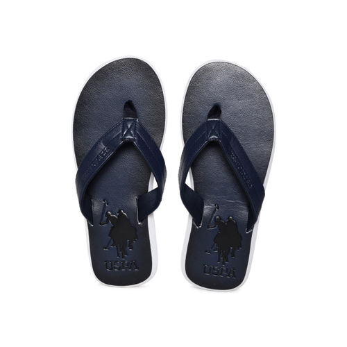 7af9f6923d54 Buy U.S. Polo Assn. Men Navy Blue Solid Thong Flip-Flops online ...