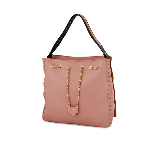 LaFille Pack of 4 Pink Solid Handbags