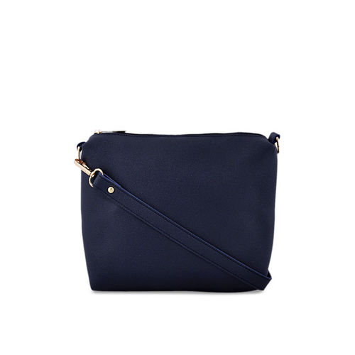LaFille Pack of 4 Navy Blue Solid Handbags
