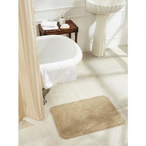 Obsessions Beige Rectangular Bath Mat