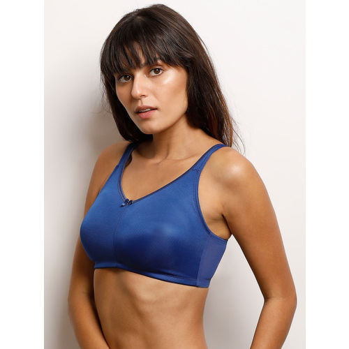 Zivame Blue Solid Non-Wired Non Padded T-shirt Bra