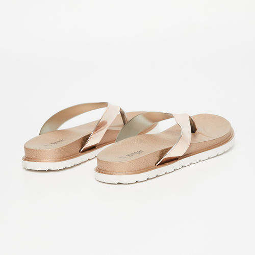 Ginger by Lifestyle Women Rose Gold-Toned Solid Flats