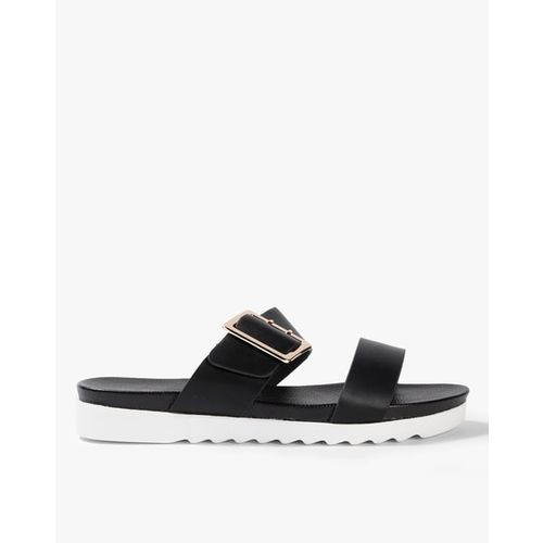Ginger by lifestyle Dual Strap Slip-On Flat Sandals