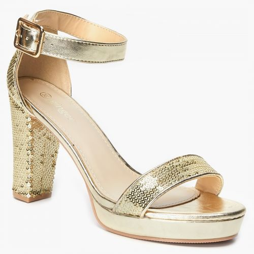 Ginger by Lifestyle Women Gold-Toned Solid Heels