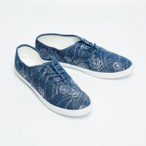 c34893c1bb4c89 Ginger by Lifestyle Women Blue Woven Design Sneakers