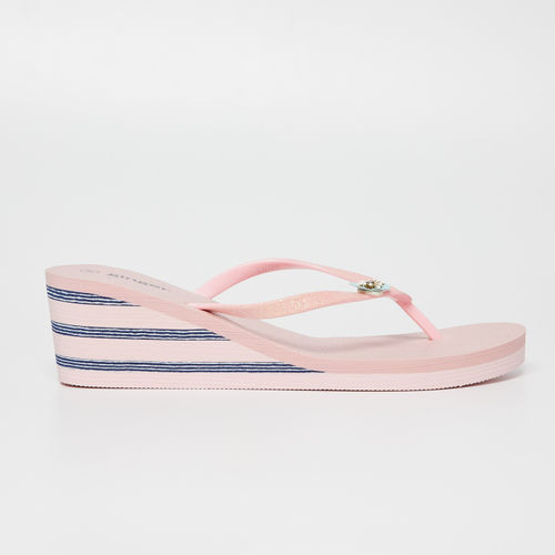Ginger by Lifestyle Pink Rubber Slip-on Flat Flip Flops