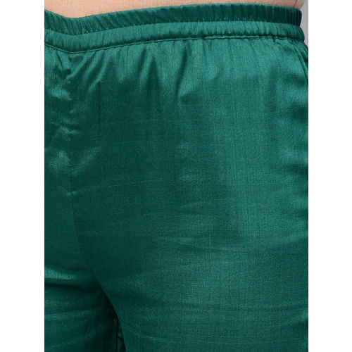 Ahalyaa Green Solid Kurta with Trousers & Dupatta