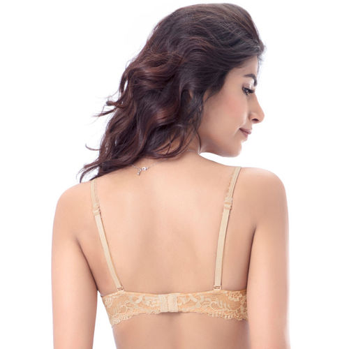 PrettySecrets Skin-Coloured Lace Underwired Non Padded Everyday Bra