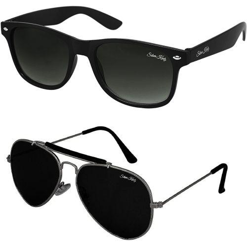 Silver Kartz Wayfarer, Aviator Sunglasses