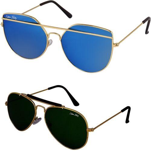 Silver Kartz Aviator Sunglasses