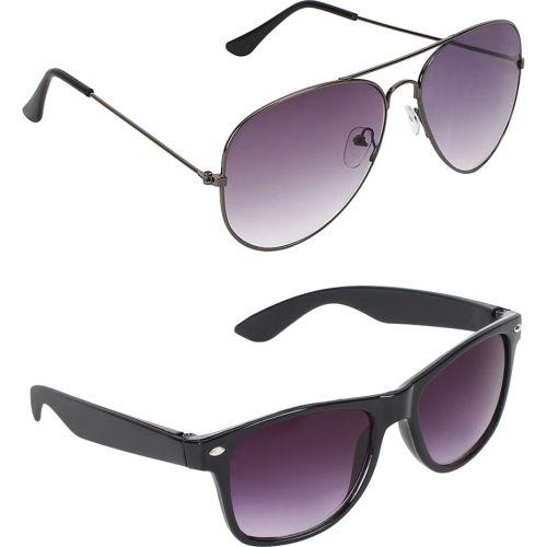 Abner Aviator, Wayfarer Sunglasses
