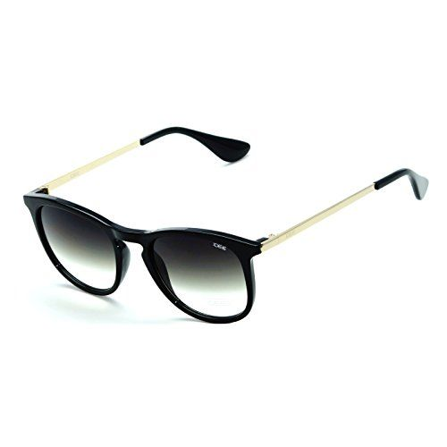 IDEE-S2304-C1 Unisex Black Shaded Medium Round Sunglasses