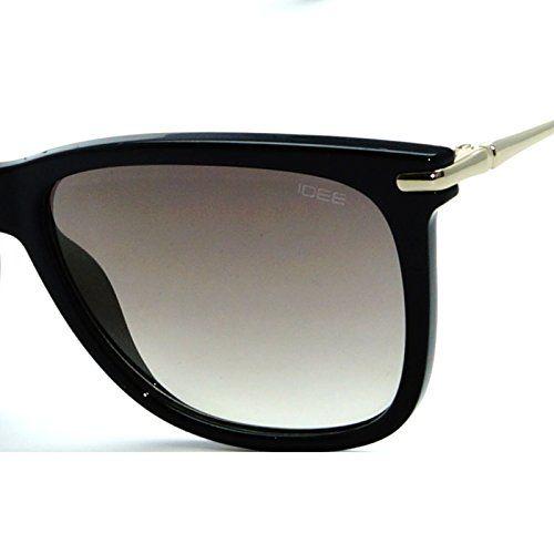 IDEE-S2266-C1 Unisex Golden Mirror Large Wayfarer Sunglasses