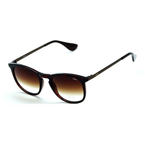 IDEE-S2304-C3 Unisex Brown Shaded Medium Round Sunglasses