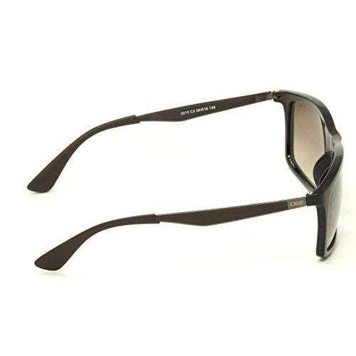 IDEE S2212-C3 Brown Shaded Medium 58mm Wayfarer Sunglasses