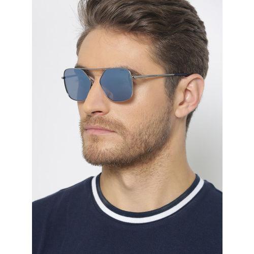 I DEE Unisex Mirrored Polarised Square Sunglasses EC1225