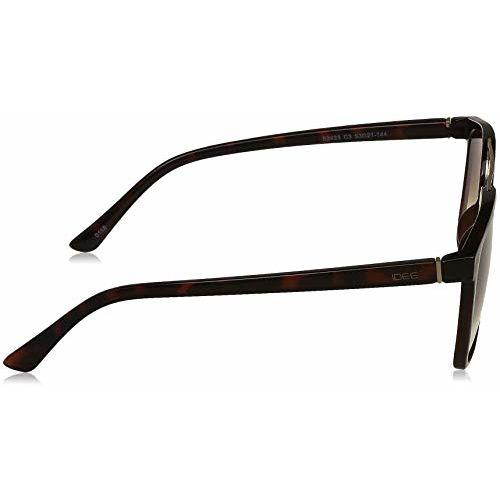 IDEE Gradient Square Men's Sunglasses - (IDS2423C3SG|53|Brown Half Gradient FM Color Lens)