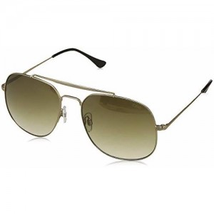 IDEE Mirrored Square Men's Sunglasses - (IDS2438C2SG|57|Gold and Mirror-Green Gradient Color Lens)