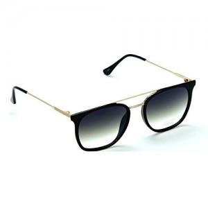 IDEE-S2317-C1 Unisex Golden Black Shaded Large Wayfarer Sunglasses
