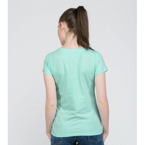 Buy Bewakoof Mint Green Plain T-shirt for women online | Looksgud.in