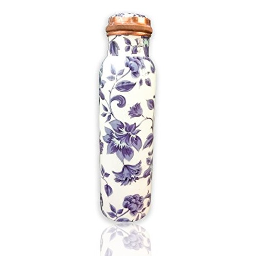 VIP Purple Flower Pure Copper Bottle 100% Copper