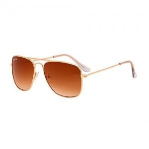 Royal Son (RS0028AV 58) Brown UV Protected Caravan Unisex Sunglasses
