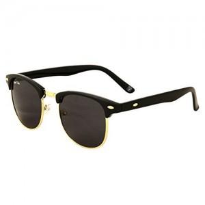 Royal Son (RS006CM   51) Black Clubmaster Round Sunglasses