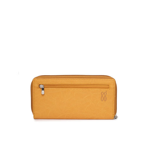 Baggit Women Yellow Printed Zip Around Wallet