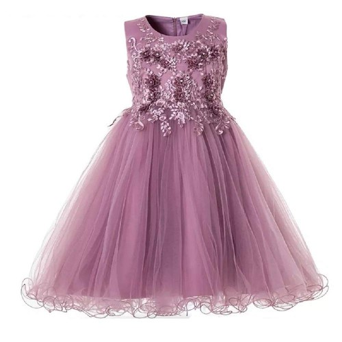 THE LONDON STORE Pink Flower Pearls Formal Ball Gown