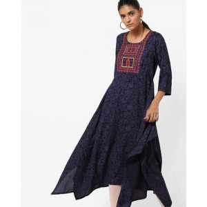 00c9d17d2c Buy AVAASA MIX N  MATCH Flared Kurta with Embroidered Yoke online ...