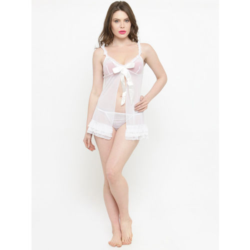 N-Gal White Solid Baby Doll NR1018