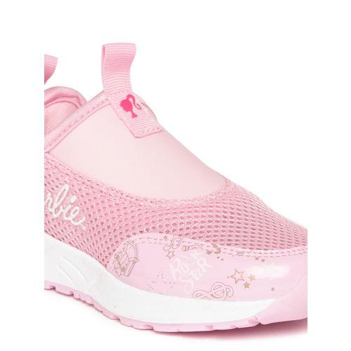 Barbie Girls Pink Printed Detail Slip-On Sneakers
